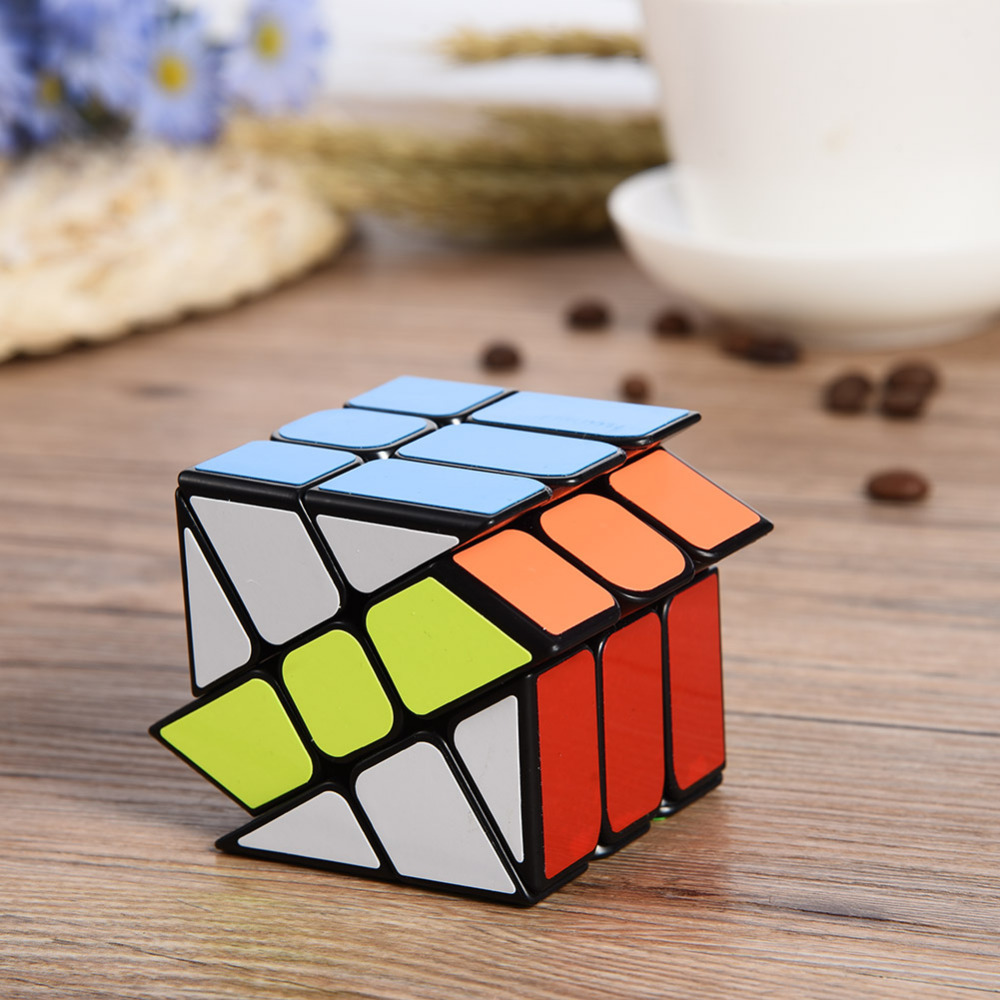 Hot Wind and Fire Wheel Windmill Third level Heteromorphic Magic Cube Plastic Twisty Magic Cube font