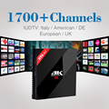 3/32 GB H.265 H96pro + Android Smart TV Box Amlogic S912 con 1 Año Iptv Europa Francés Turco Italiano NOS TV Receptor Set Top Box