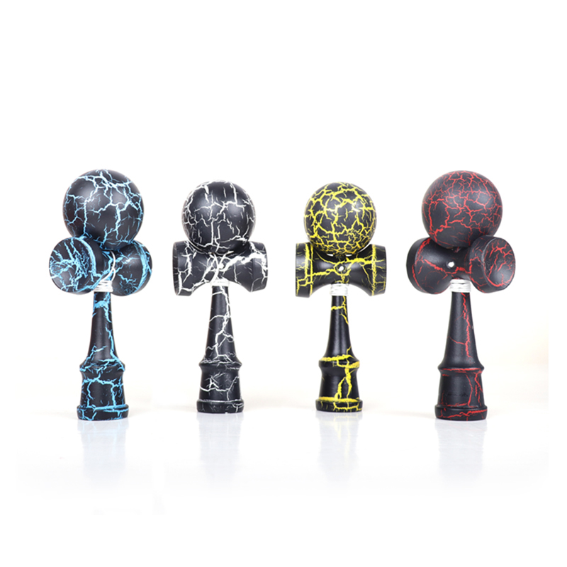 Trend Mark Kendama Professional Skillful Wooden Outdoor Sport Pu Paint 18.5cm Strings Toy Kendama Juggling Ball Game Gift For Kid Adult Outdoor Fun & Sports Toy Balls