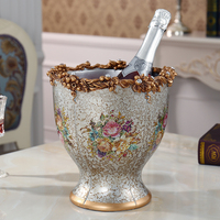 Европейский керамические украшения домашний бар КТВ ведро шампанского Ретро Красный пиво бочка с ваза украшения