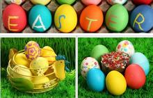 Buy easter gifts toddlers and get free shipping on aliexpress muqgew kids diy painting wooden color egg education toys negle Image collections