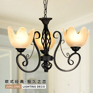 3 head droplight/bedroom EMS FREE SHIPPING wrought iron pendant lights pendant light bedroom pendant lamp ZCL ems free shipping rustic wrought iron flowers and bedroom pendant light fashion pendant light brief pendant light lighting lamps