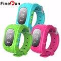 FineFun SmartWatch Relógio Criança Q50 2G SIM GSM GPRS GPS De Rastreamento De Posicionamento Anti-perdidos Crianças Relógios para IOS Android Q60