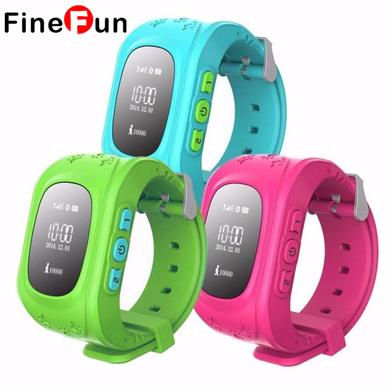 imágenes para FineFun SmartWatch Reloj Niño Q50 2G SIM GSM GPRS de Seguimiento GPS de Posicionamiento anti-perdida Niños Relojes para IOS Android Q60