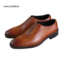 MALONEDA Goodyear Shoes Custom Made Suits High-grade Square Toe Genuine Leather British Business Handmade Mens