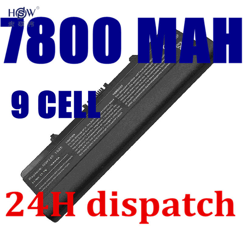 HSW 7800mAh Laptop Battery For dell Inspiron 1525 1526 1545 1546 Vostro 500 0D608H 0GW252 0F972N 312-0940 J414N K450N