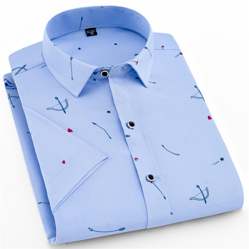 Men new Shirt short Sleeve Fashion Floral Printing Shirts Brand Clothing Casual shirt Man Summer business casual Big yards shirt