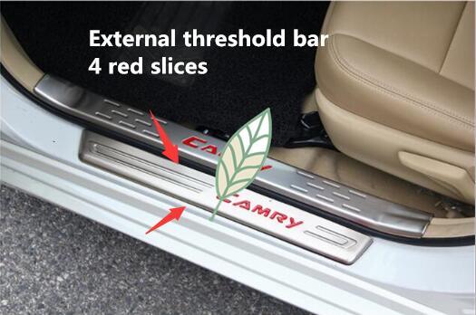 Para a TOYOTA 12-17 novo Camry limiar pedal de boas vindas, em aço inoxidável embutido sete geração interior guarnição revisa