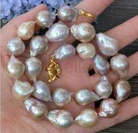PEARL NECKLACE baroque 18 AAA 12 13MM SOUTH SEA NATURAL multicolor