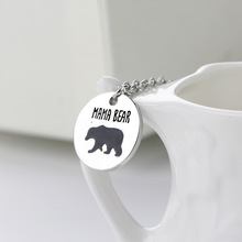 Mother Bear Necklace Women Creative Drop Oil Mom Bear Necklace Pendant Female Mother's Day Animal Bear Gift Necklace Pendant her jewellery cute small bear pendant necklace best fashion pendant made with crystals from swarovski hp0538