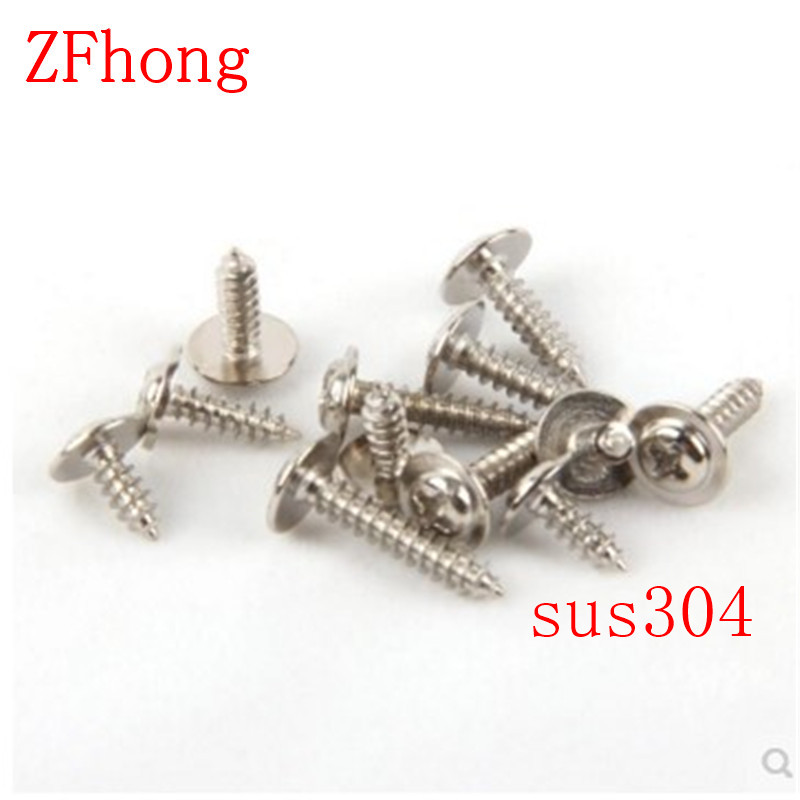 100pcs M2X4/5/6/8/10/12 Stainless steel 304 phillips round washer head self tapping screw купить