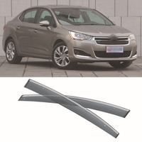 New 4pcs Blade Side Windows Deflectors Door Sun Visor Shield For Citroen C4L
