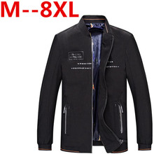 9XL 8XL 7XL 6XL 5XL Ali Spring Men's Jackets Solid Fashion Coats Male Casual Slim Stand Collar Jacket Men Outerdoor Overcoat