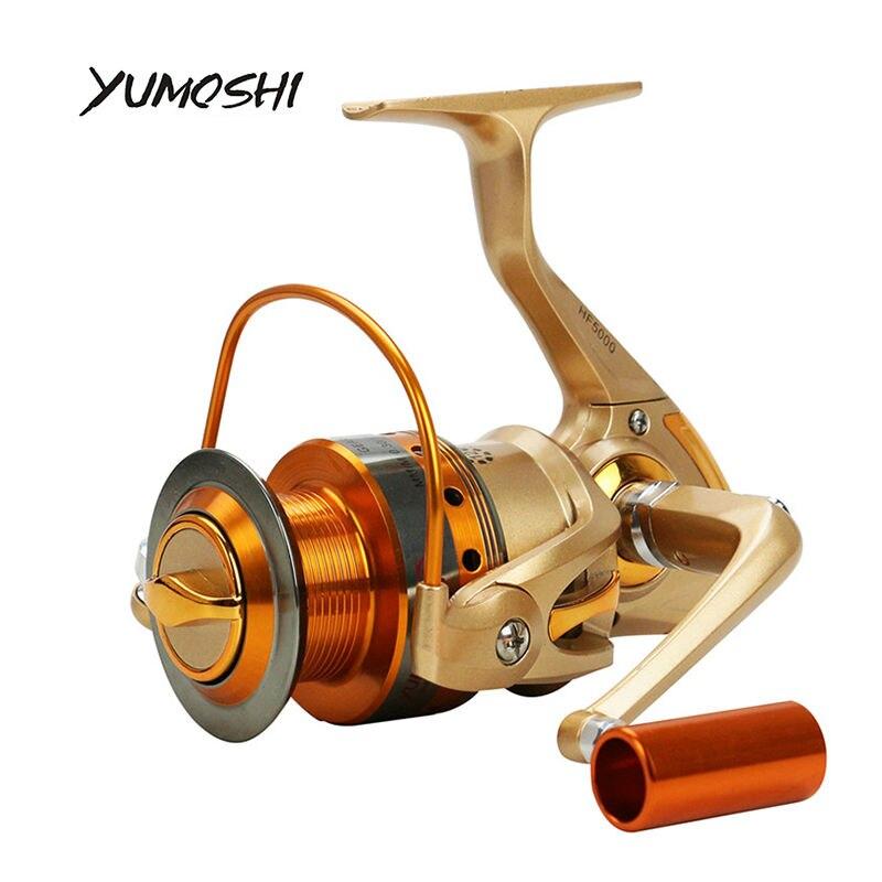 YUMOSHI HF 12 BB Металл коромысла Металлической ручкой 500-9000 Металл рыболовная катушка катушки