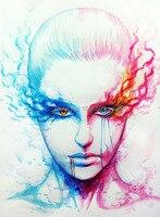 2015 TOP pittura a olio di arte di alta qualità-100% dipinto a mano di LAVORO-colore femminile del mondo-36 pollici-costo di trasporto libero