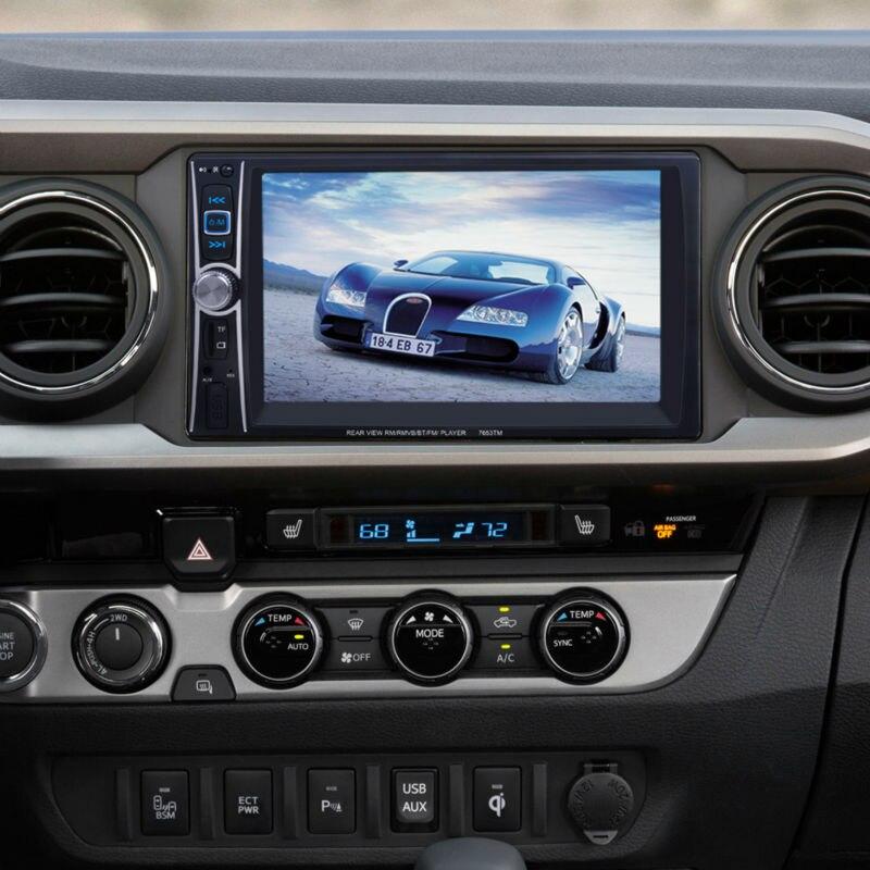 6,6 дюйма FM/USB/AUX Авто Bluetooth MP4/MP5 плеер заднего вида Камера автомобиля Универсальный видеоплеер для аксессуары Muisic плеер