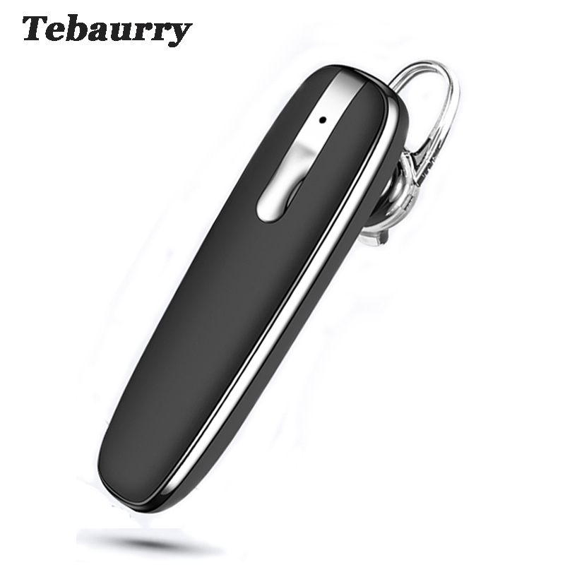 Tebaurry Handsfree Business Bluetooth Earphone Headphones Wireless Bluetooth Headset with Microphone Voice control for Phone PC bq 618 wireless bluetooth v4 1 edr headset support handsfree earphone with intelligent voice navigation for cellphones tablet