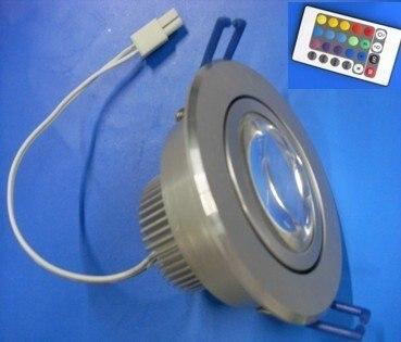 1*5 RGB LED ceiling light with IR controller;90*48mm;AC 110-240V input
