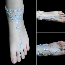 2015 hot sell 1PC Foot Jewelry Barefoot anklets Sandals Beach Dancing Wedding Ankle Bracelet Chain 56BR