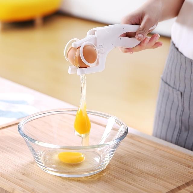 Egg cracker handheld york and white separator