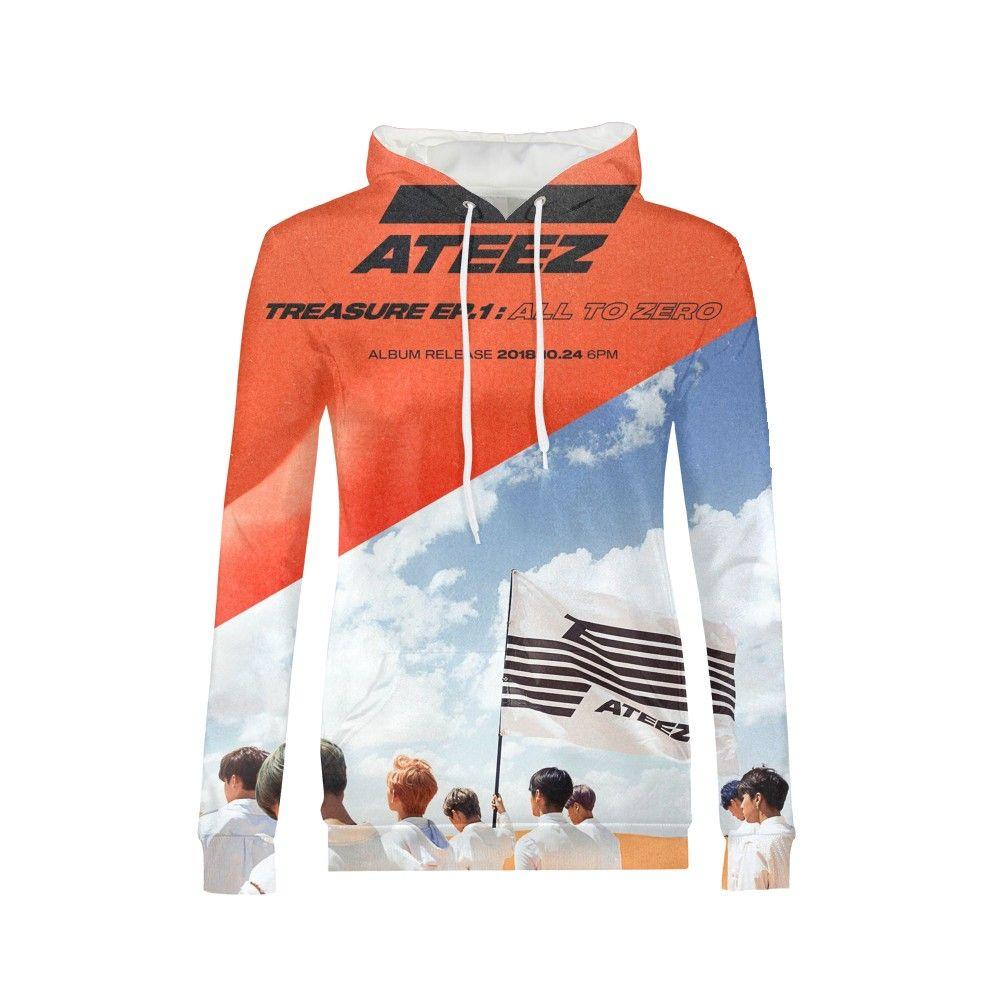 Mode Kpop groupe ATEEZ sweat à capuche pour femme Sweatshirts Hongjoong Seonghwa Yunho Yeosang San Mingi Wooyoung Jongho ATEEZ A adolescent Z