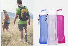 2017 new 500ML Creative Collapsible Foldable Silicone drink Sports Water Bottle Camping Travel my plastic bicycle bottle