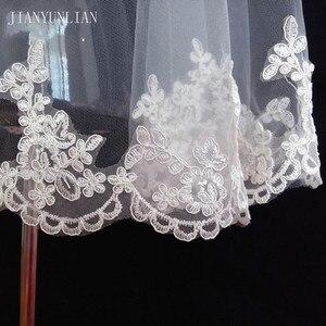 Image 3 - Promoción, velo de novia blanco y marfil, 1,5 metros de velo de novia, accesorios de boda, velos de tul con borde de encaje a la moda