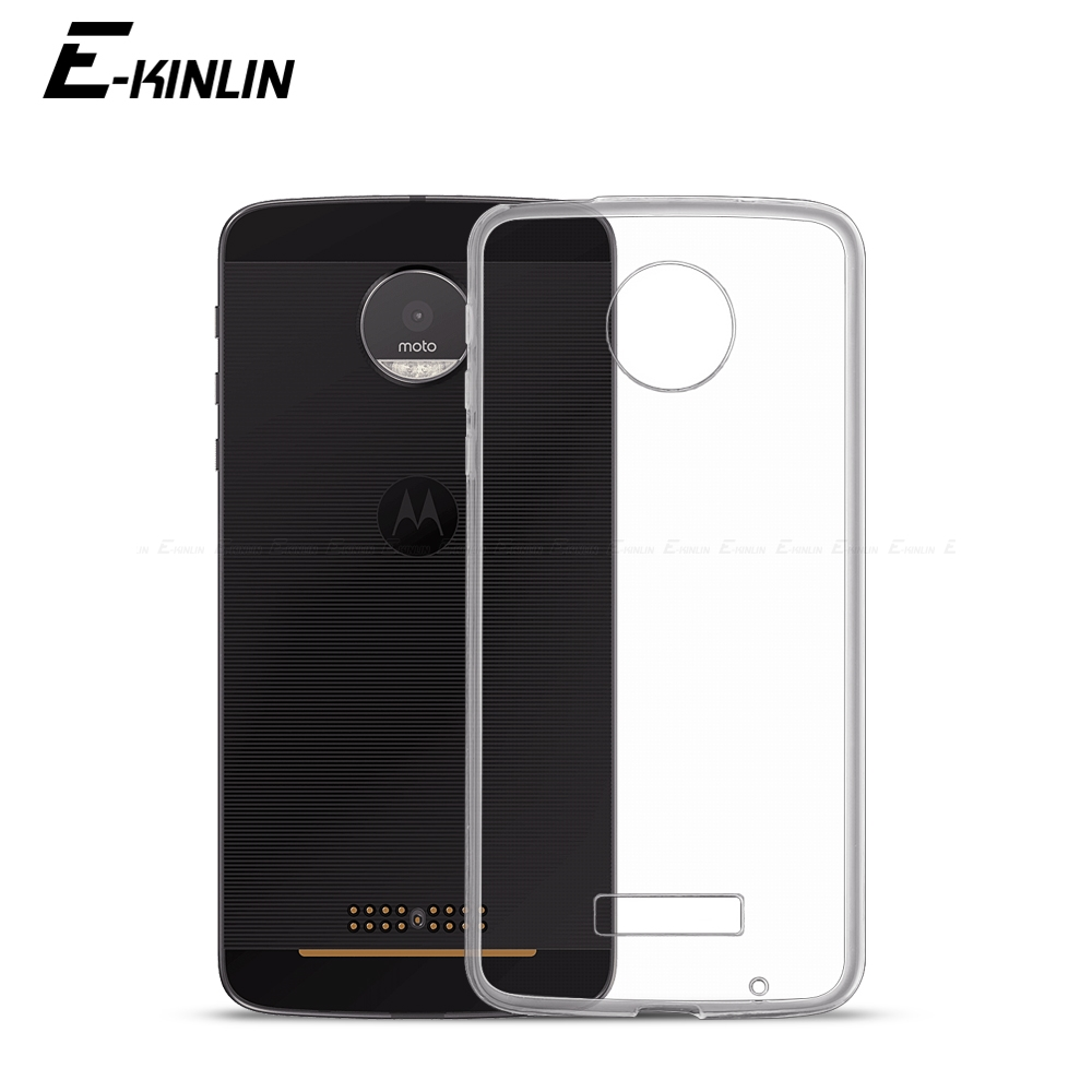 Ultrathin Clear Soft Protective TPU Case For Motorola Moto X4 Z Z2 Z3 Z4 Play M E6 E6s E5 E4 C Plus Silicone Back Phone Cover