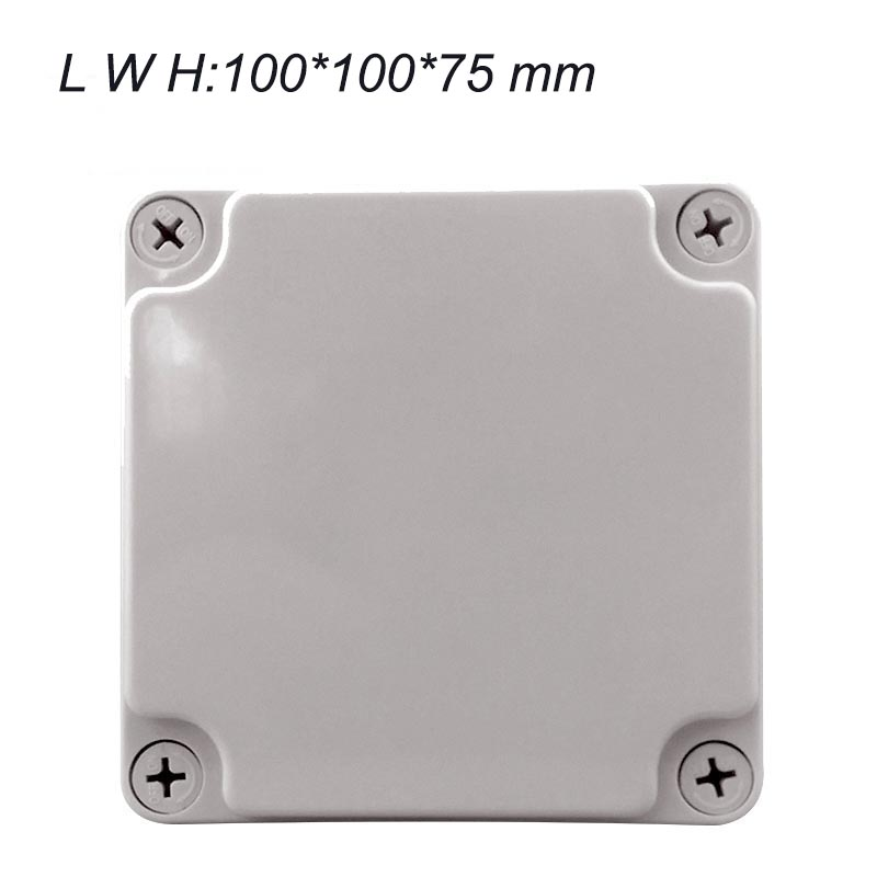 100*100*75mm outdoor waterproof junction box ABS plastic boxes sealed box plastic junction box enclosure white abs plastic waterproof dust proof junction box 36mm open hole diy electrical connection outdoor monitor distribution box