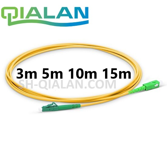 Optical Fiber Patchcord LC TO SC APC Fiber Optic Cable Simplex 2.0mm PVC Single Mode Fiber Patch Cable APC Fiber Jumper