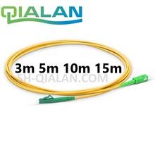 Optical Fiber Patchcord LC TO SC APC Optic Cable Simplex 2.0mm PVC Single Mode Patch Jumper
