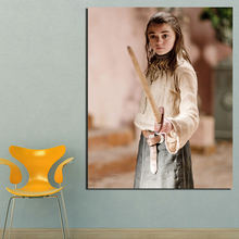 Wall Painting Arya Practice Sword Canvas Painting Prints Living Room Home Decor Modern Wall Art Oil Painting Posters Pictures HD цена 2017