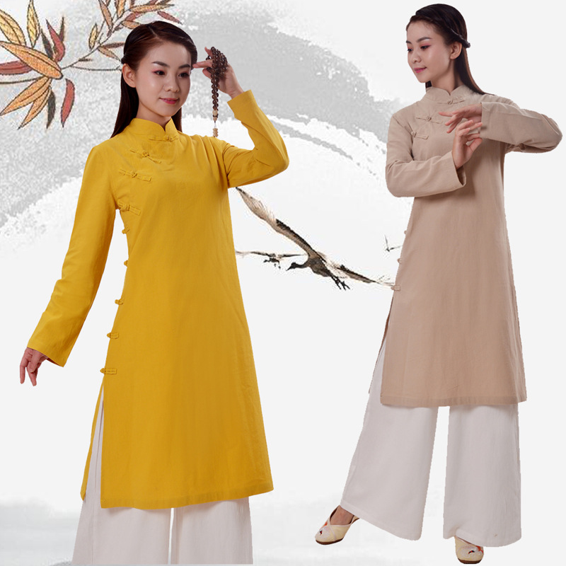 Chinese Kung Fu Uniform Womens Mens Taichi Martial Arts Embroidery Top Pant Suit