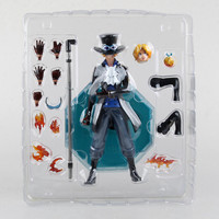 10 23CM One Piece POP Sabo Chief of Staff of the Revolutionary Army Boxed 25cm PVC Action Figure Collection Model Toy