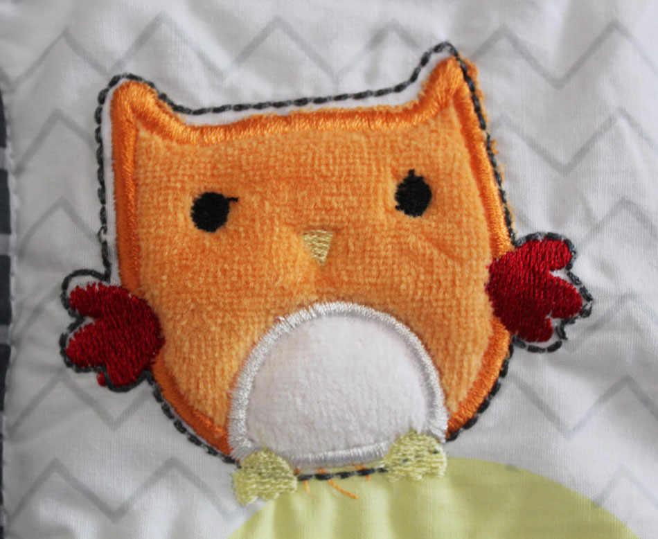 7 Uds Aprendizaje Temprano juego de cama para bebé, cuna, bebé cuna juego de cama cuna cunas cuna edredón sábana parachoques cama falda incluido
