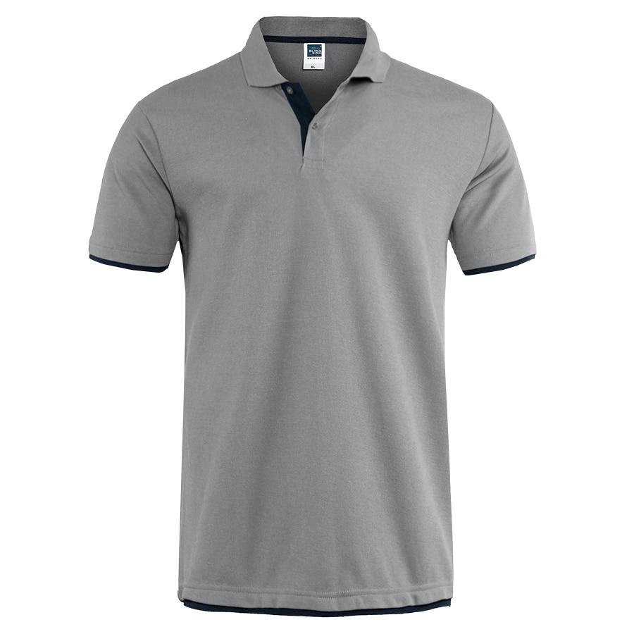 Mens Polo Shirt Brands Clothing 2019 Short Sleeve Summer Shirt Man Black Cotton Poloshirt Men Plus Size Polo Shirts