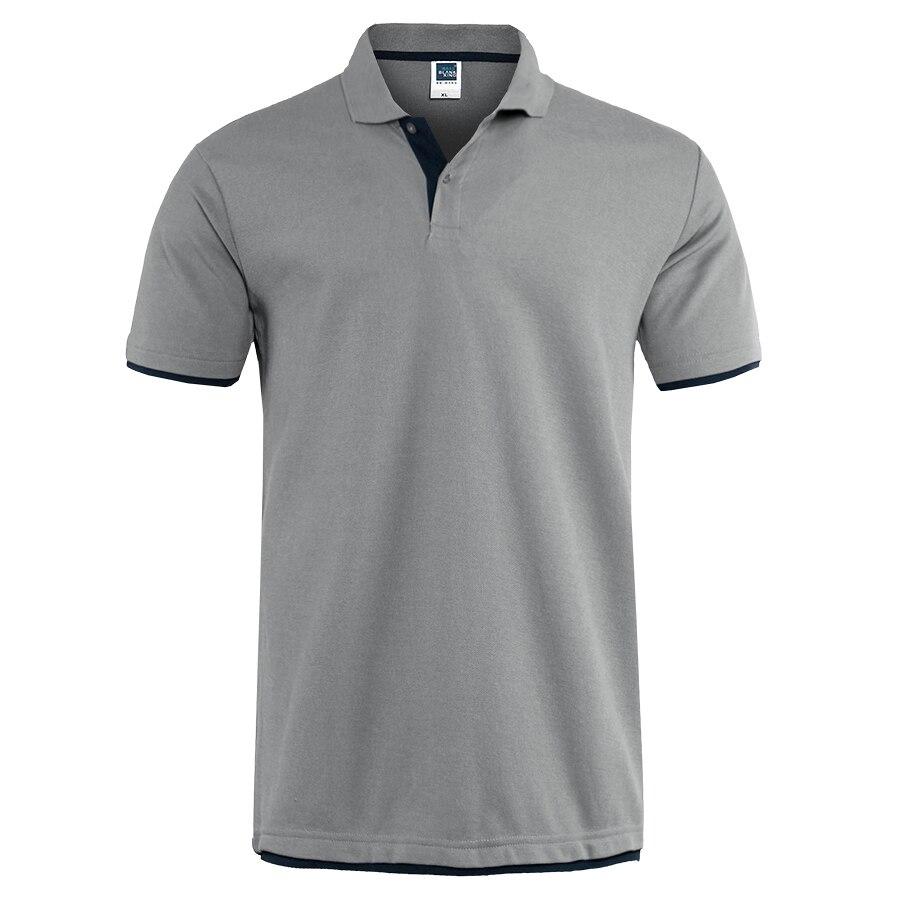 Camisa Polo Mens Marcas de Roupas de Verão 2019 Algodão Camisas Pólo de Manga Curta Homens Tamanho Grande Camisa Polos Camisa