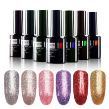 1 pc Beautilux Silver Rose Gold Metallic Platinum Merah Ungu Merah Muda Gel Nail Polish UV LED Lacquer 10ml