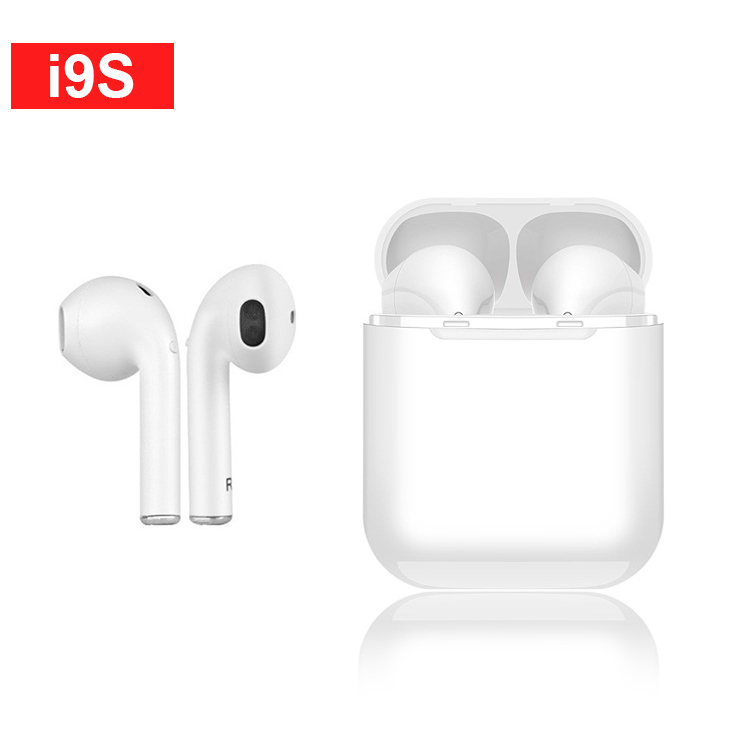 i9S TWS Wireless Bluetooth Earphone Portable Headset Invisible Earbud for IPhone X 8 7 Plus For Mobile Android Xiaomi Phones in Phone Earphones Headphones from Consumer Electronics