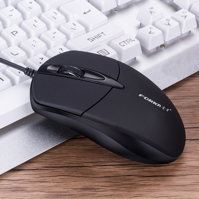 Forka Silent/Sound Click Mini Wired Computer Mouse Portable Mute Desk Optical Mouse Mice for PC Computer Laptop Desktop