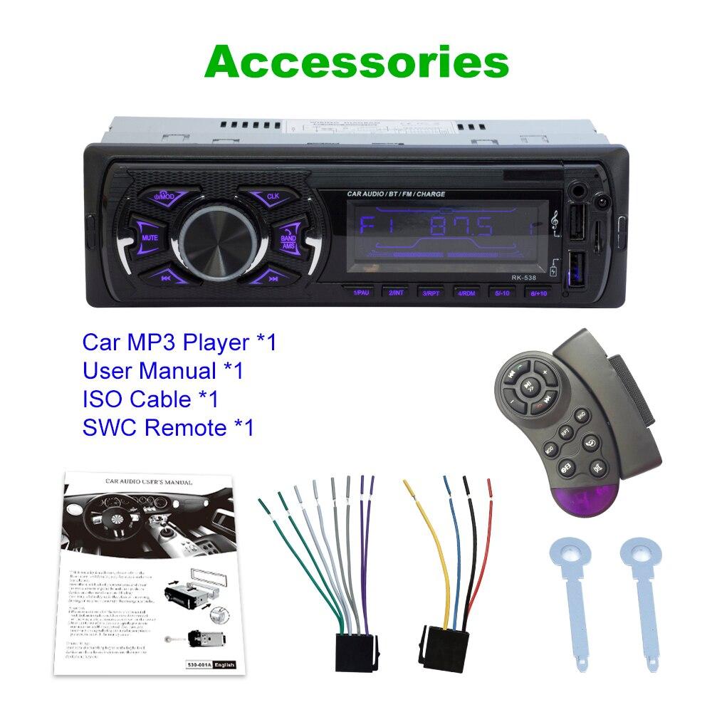 LaBo Car Radio Stereo Player Bluetooth Phone AUX-IN MP3 FM/USB/1 Din/SWC Remote/remote control 12V Car Audio Auto 2019 Sale New