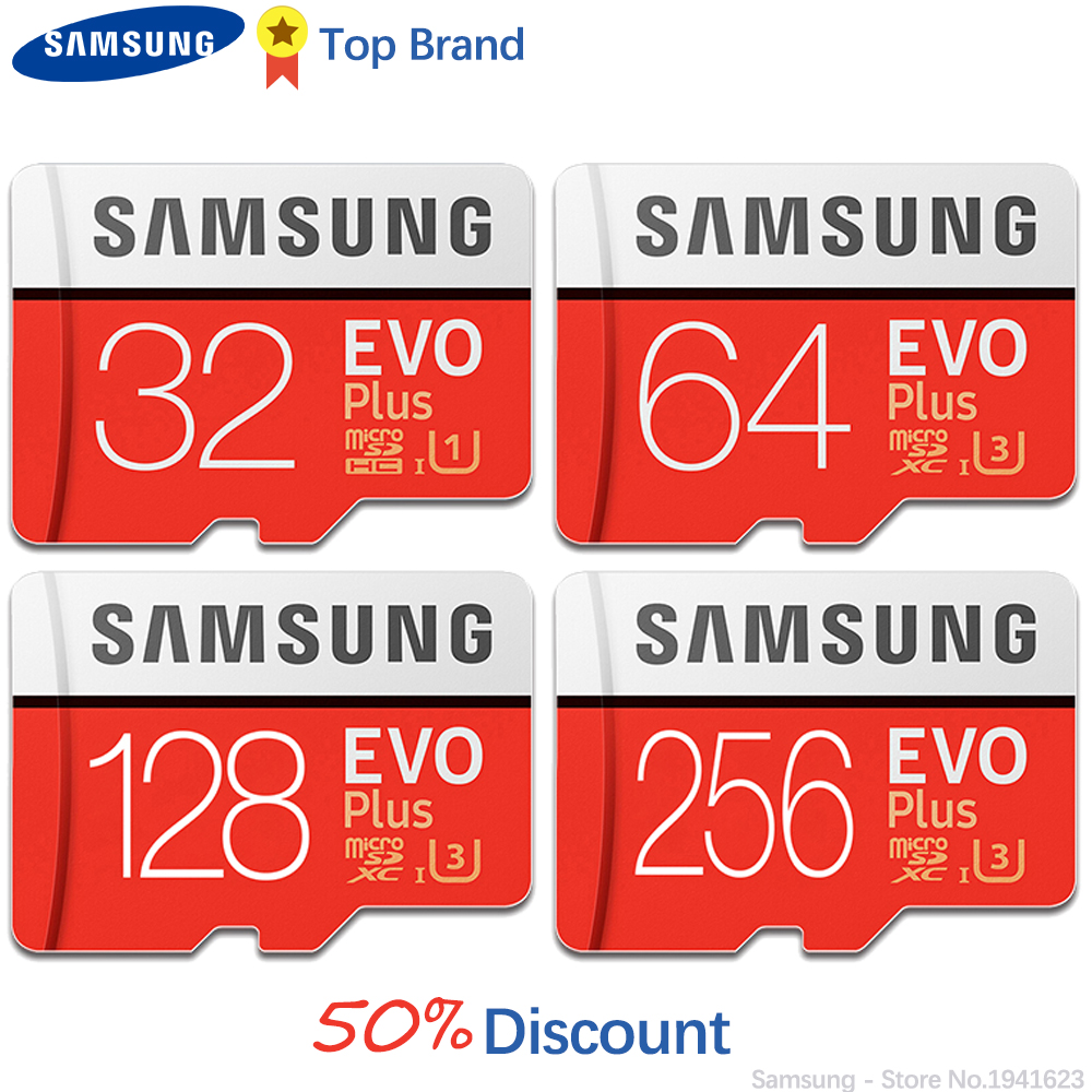 SAMSUNG 100% Original TF Micro SD Card Memory Card MicroSD EVO Plus Class 10 U3 32GB 64GB 128GB 256GB Smartphone Tablet Camera(China)