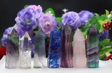 324グラムの7ピースa品種の水晶石魔法の杖ポイント癒す