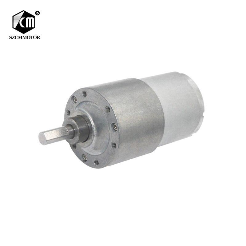 Homyl 2Pcs DC 12V High Torque Reducer Motor Gear Worm Gearmotor 470RPM