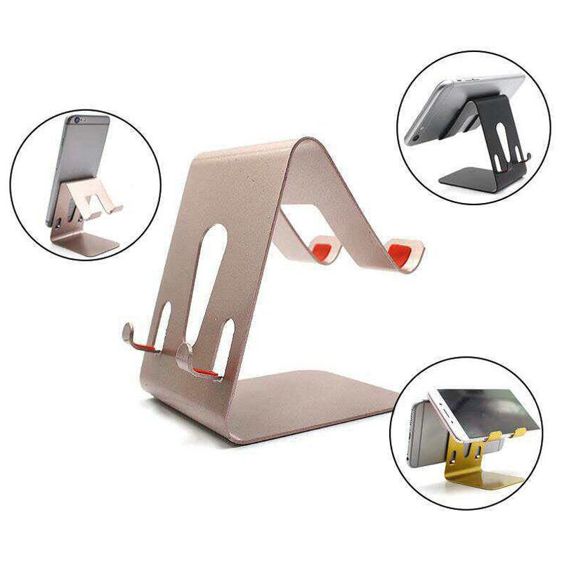 Universal Aluminum Metal Mobile Phone Tablet Desk Holder Stand For Oukite K6 K10000 Max K5000 Android Phone Holders And Standers Cellphones & Telecommunications Mobile Phone Accessories