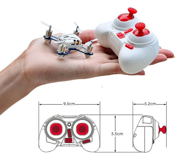 Hubsan H111 4CH 6-axis Gyro Mini RC Quadcopter with LED Light 2.4GHz RTF Childrens Toy D50