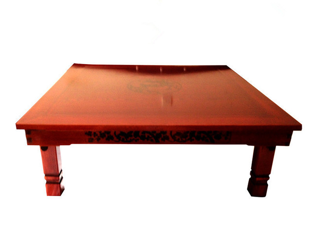 Square 80x80cm Korean Floor Table Folding Legs Luxury Antique Home Furniture For Dining Traditional