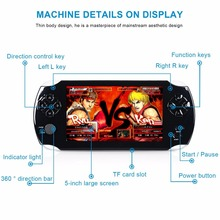 S9000A 5-inch Large Screen 8GB Game Player Handheld Game Console Nostalgia Portable Gaming Machine USB 2.0 Interface EU/US Plug