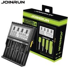 Joinrun S4 18650 chargeur blanc LCD Écran Smart Chargeur de Batterie Li-ion 18650 14500 16340 26650 AAA AA DC 12 V Batterie chargeur