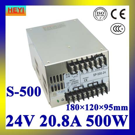 цена LED power supply 24V 20.8A 100~120V/200~240V AC input single output switching power supply 500W 24V transformer